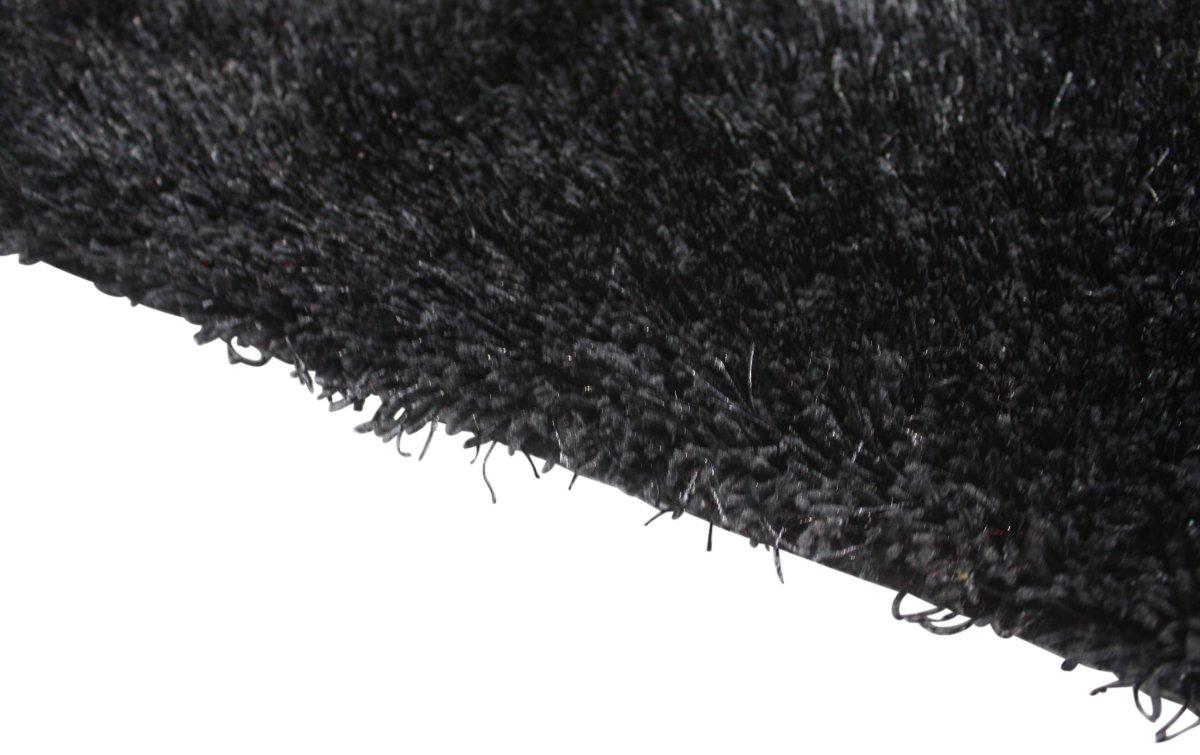 Easy Cozy sort tæppe, 140x200 cm.