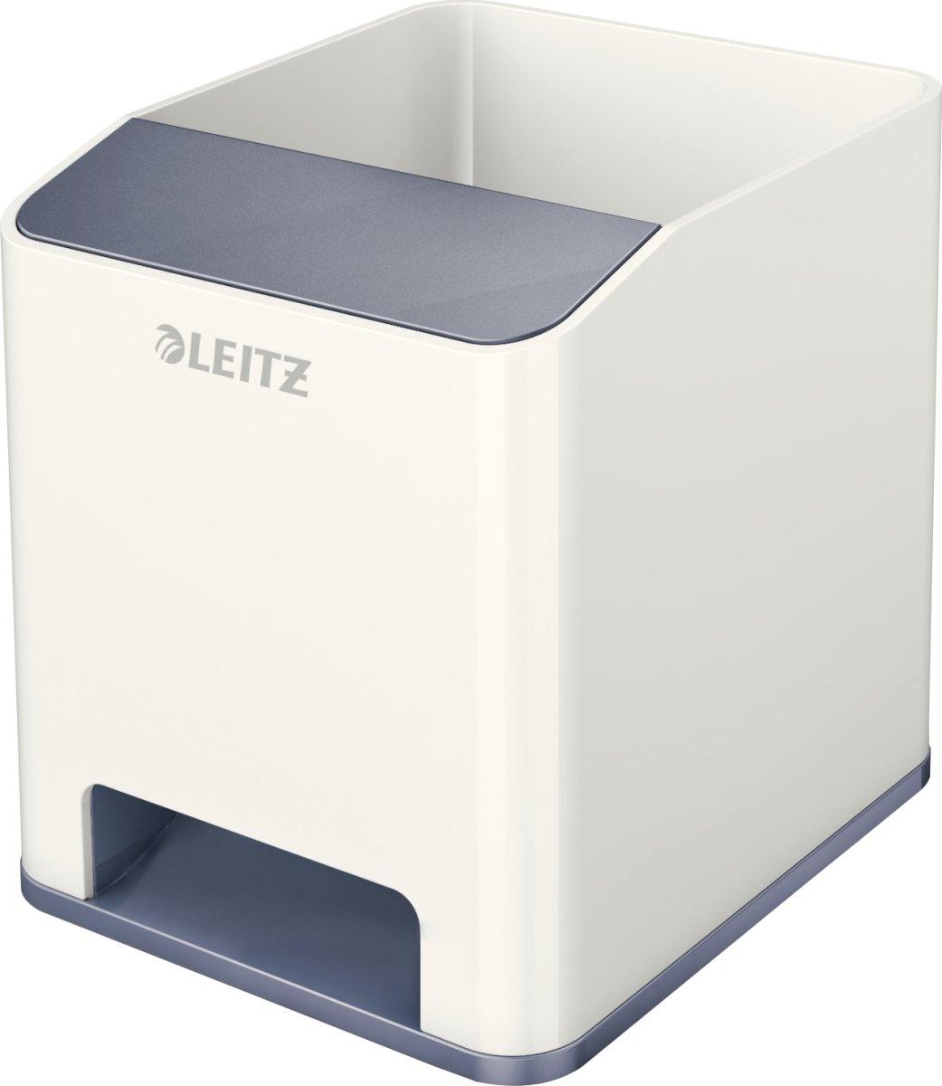 Leitz WOW Penneholder, hvid/grå
