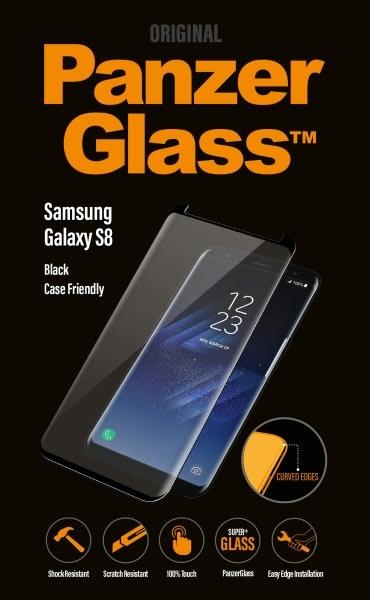 PanzerGlass skærmbeskyttelse til Samsung S8, sort