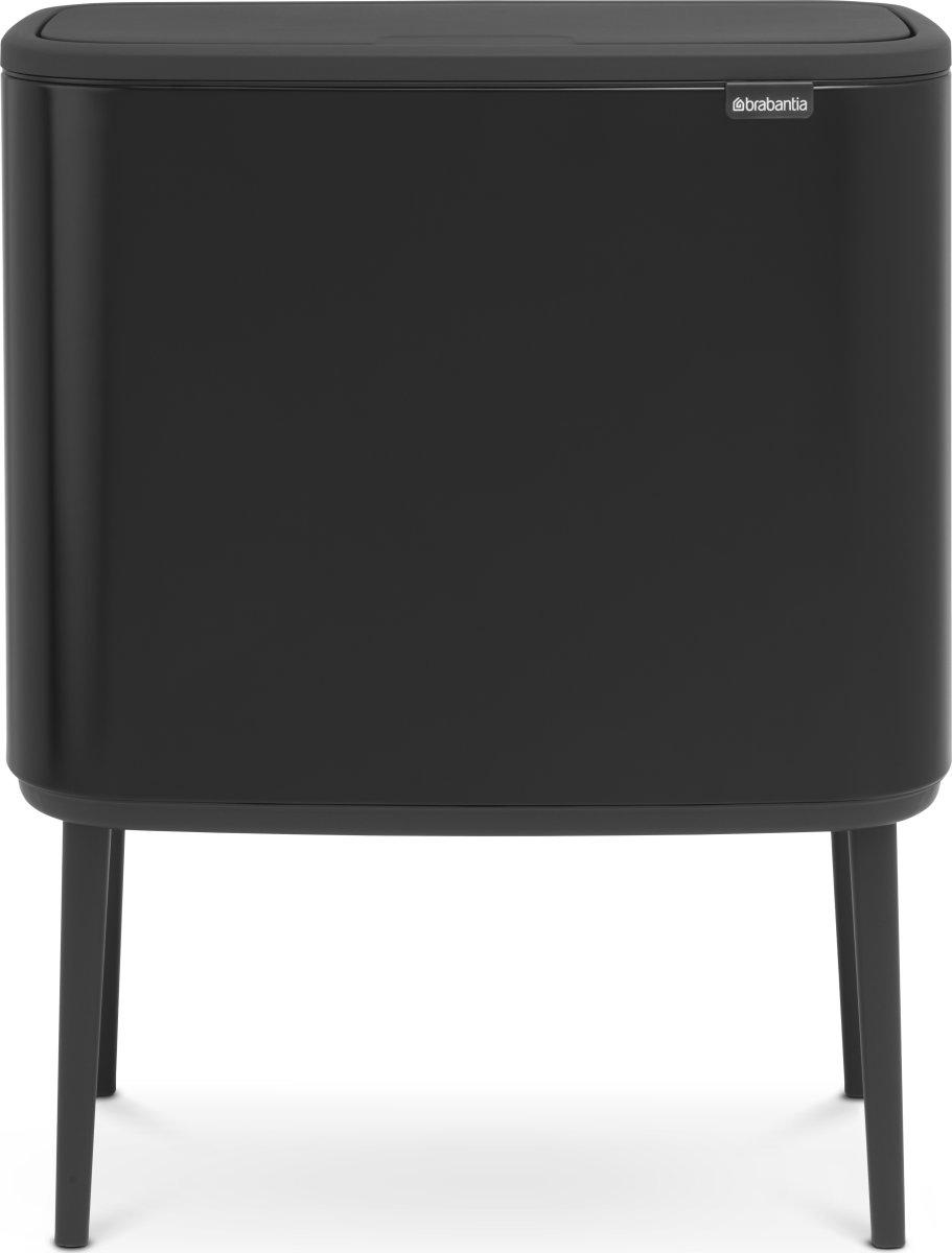 Brabantia BO Touch Bin 3x11 L, matt black