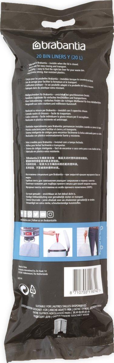 Brabantia Affaldspose Y, 20 liter, 20 stk.