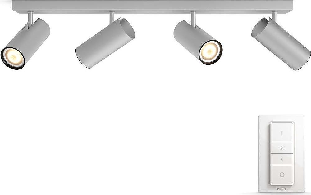 Philips HUE Buratto 4 x GU10 spot, alu + kontakt