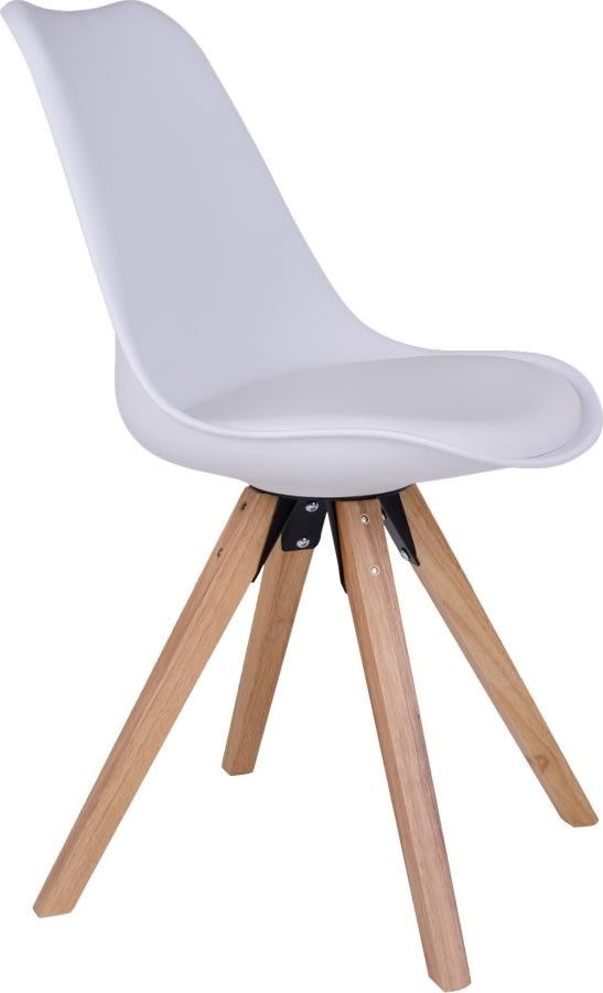 Merkur spisebordsstol, hvid m. træben
