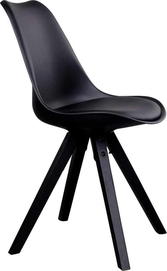 Merkur spisebordsstol, sort m. sorte træben