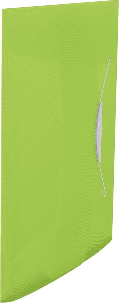 Esselte Vivida elastikmappe A4, med klap, grøn