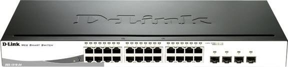 D-Link DGS-1210-24 switch, 28 ports