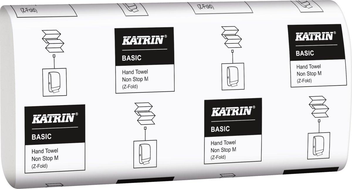 Katrin Basic M håndklædeark, 2-lags, hvid