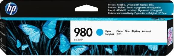HP 980/D8J07A blækpatron, blå, 6.600s