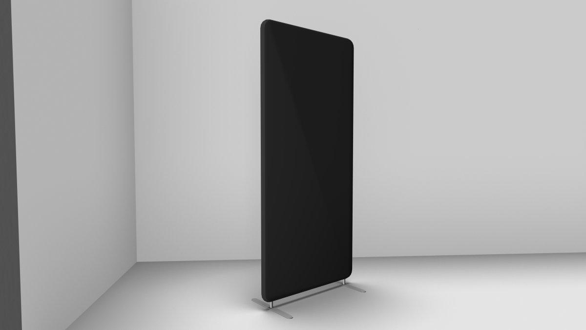 Abstracta softline skærmvæg Mørk grå B80xH170 cm