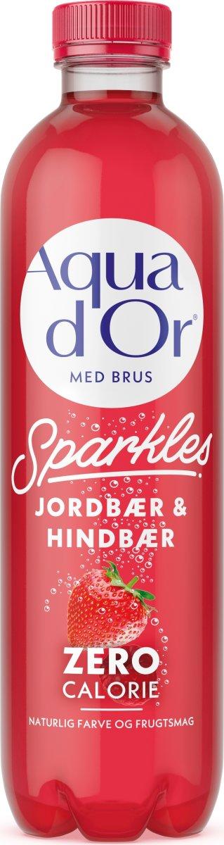 Aqua D'or Sparkles Jordbær & hindbær, 0,5 l