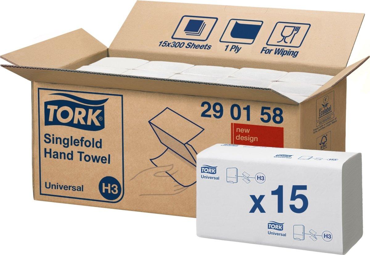 Tork H3 Universal Håndklædeark, zig-zag fold,15 pk