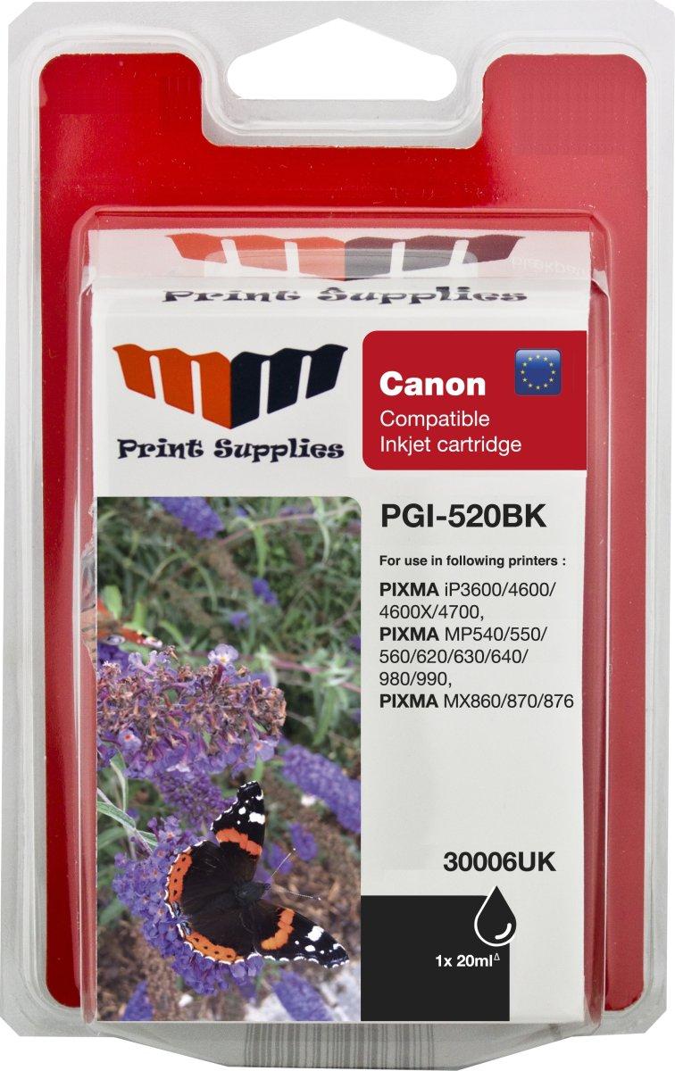 MM PGI-520BK kompatibel Canon blækpatron, sort