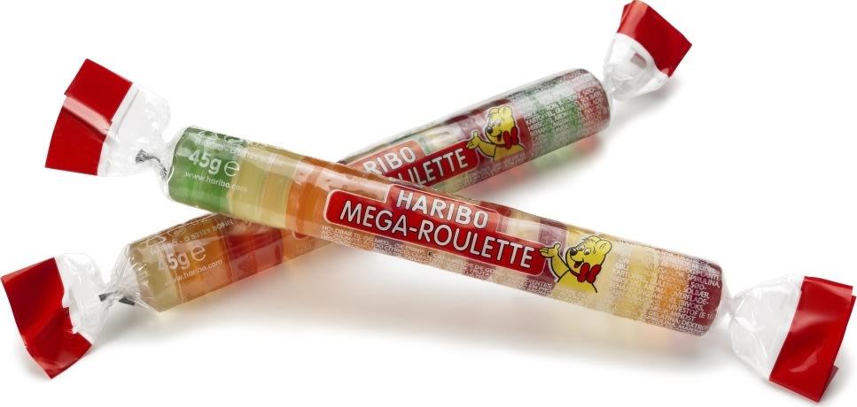 Haribo Mega roulette fruit, 45 g