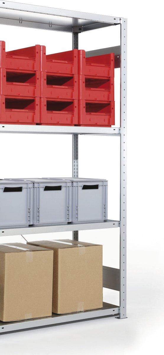 META Clip 100 kg, 200x100x40, Tilbyg inkl. 4 hylde