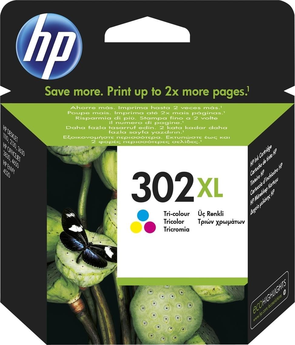 HP No302XL blækpatron, blister, farve, 330s