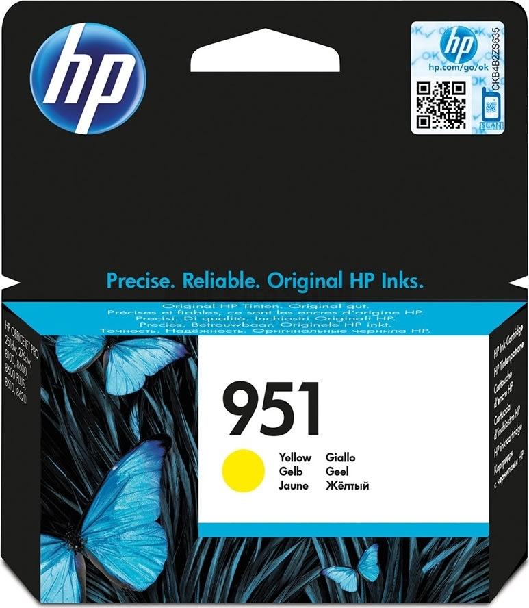 HP No951 blækpatron, gul, 700s