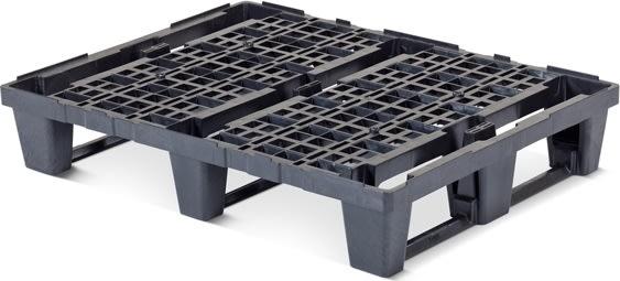 Letvægtspalle, 1/2, l.800xb.600xh.145 mm, sort