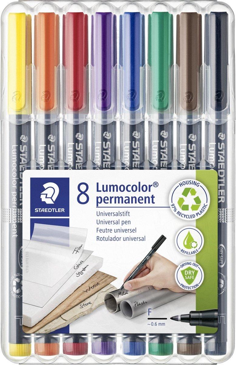 Staedtler Lumocolor 318 Marker F, perm, 8 stk.