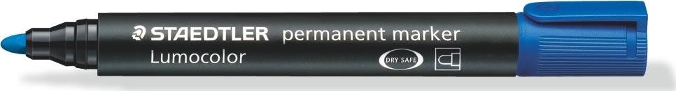 Staedtler Lumocolor marker rund, 2 mm, blå