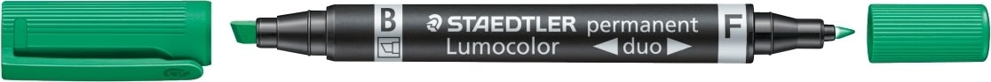 Staedtler Lumocolor Duo Marker 348B, perm, grøn
