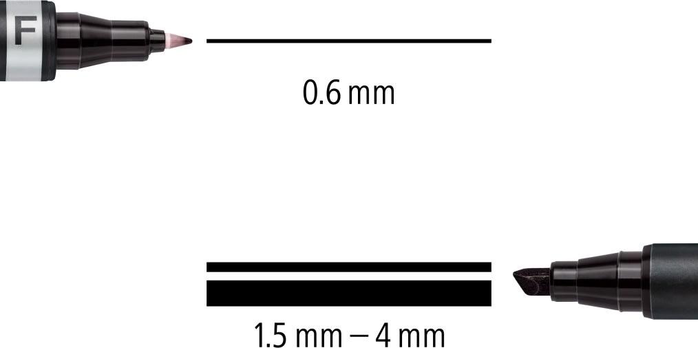 Staedtler Lumocolor Duo Marker 348B, perm, sort