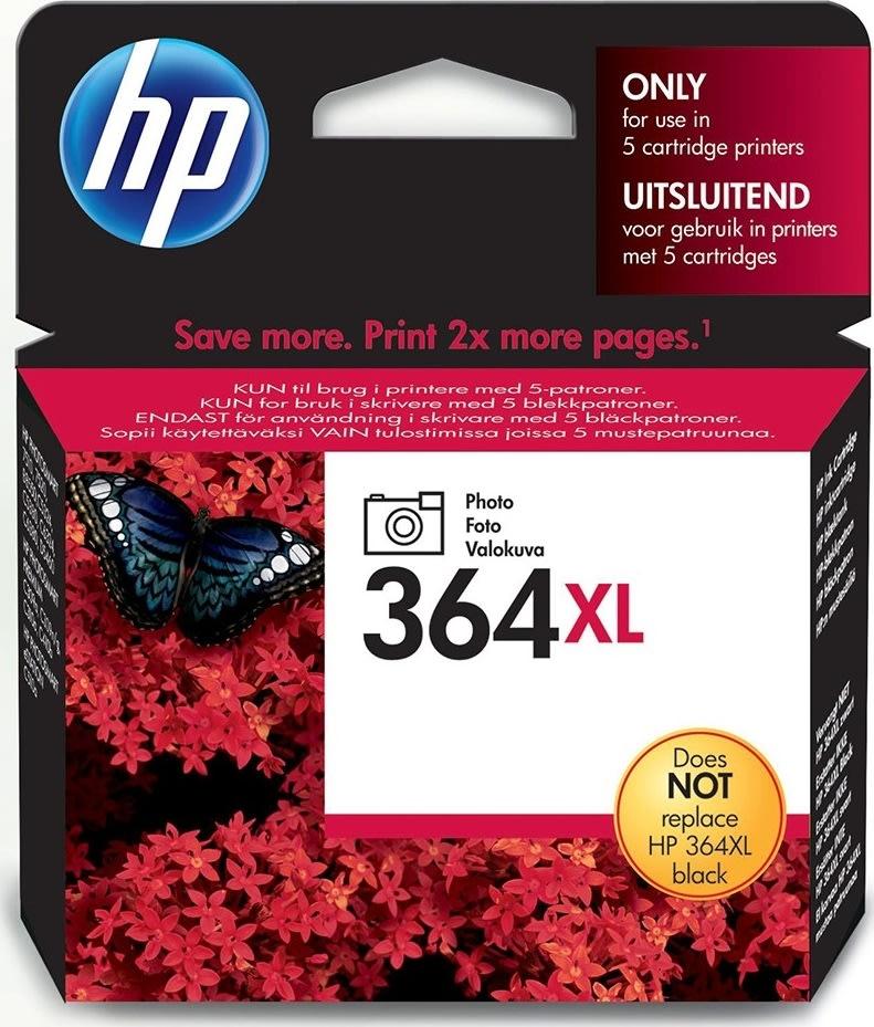 HP No364XL blækpatron, fotosort, 290s