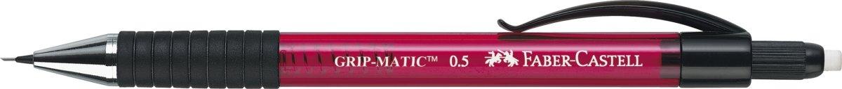 Faber-Castell Grip Matic Stiftblyant 0,5 mm, rød