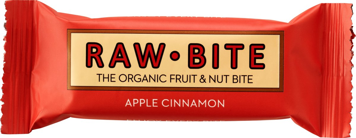 Rawbite Apple Cinamon Snackbar, 50g