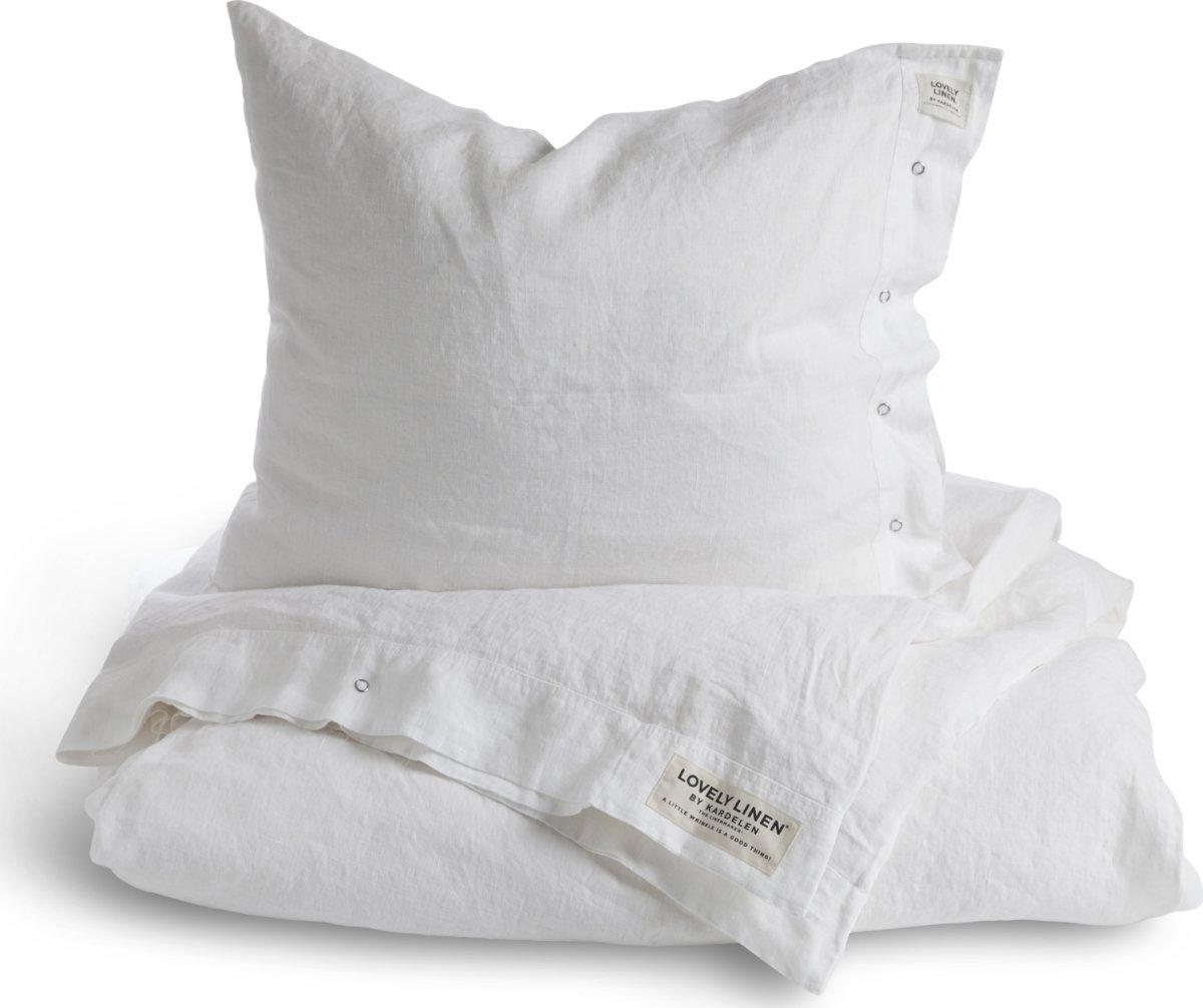 Picture of: Lovely Linen Sengetoj 140×200 Og 60×63 Cm Hvid Fri Fragt Lomax A S