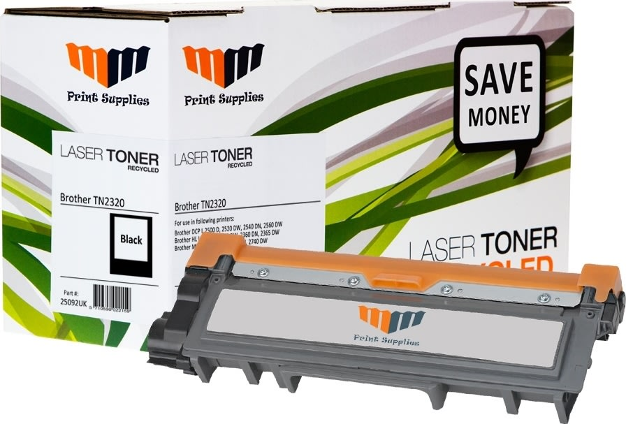 MM TN2320 lasertoner, sort, 2600s.