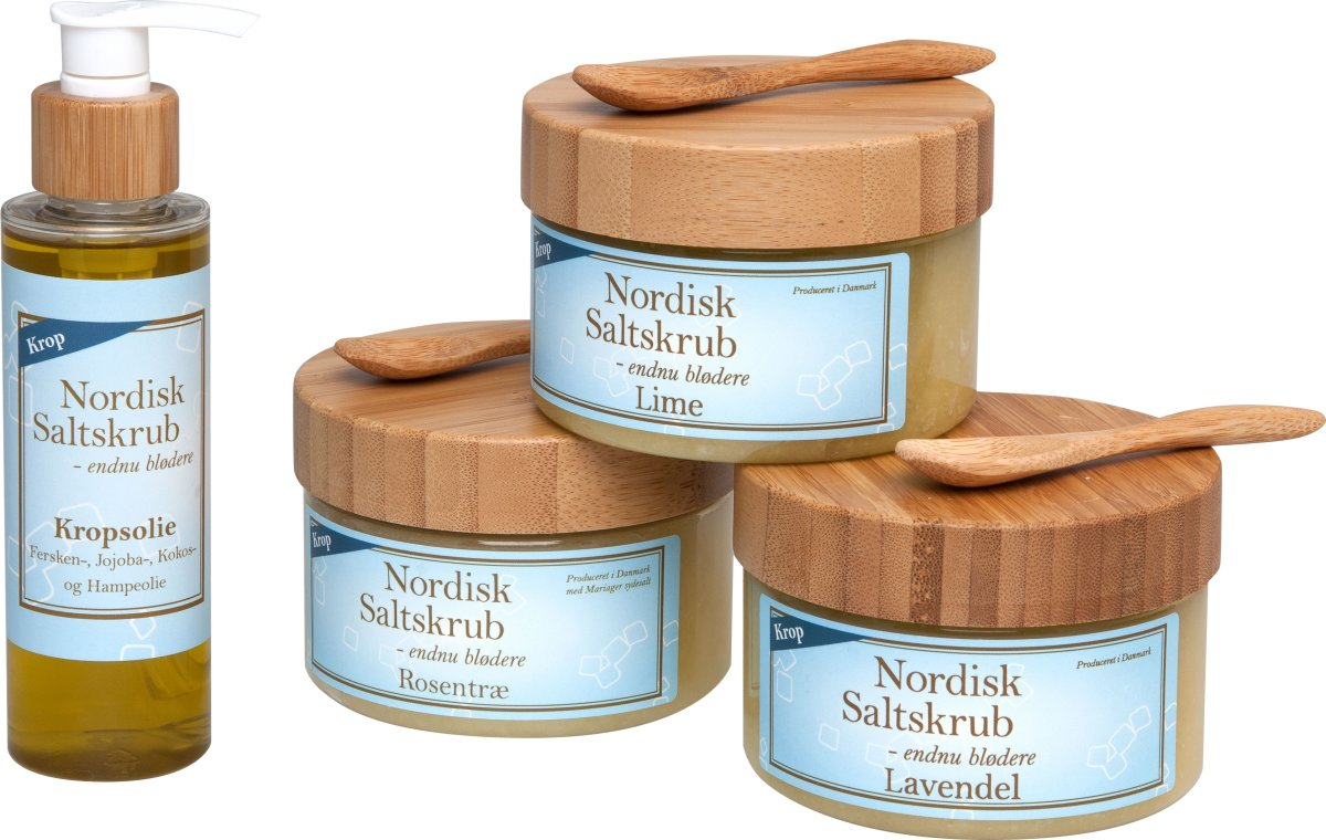 Nordisk Saltskrub gavepakke 3, med kropspleje