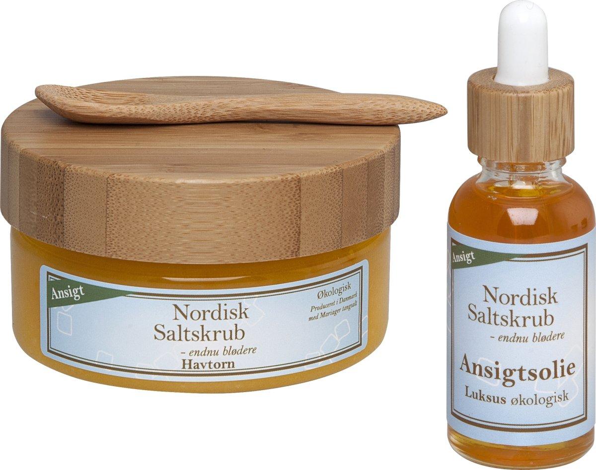 Nordisk Saltskrub gavepakke 2, med ansigtspleje