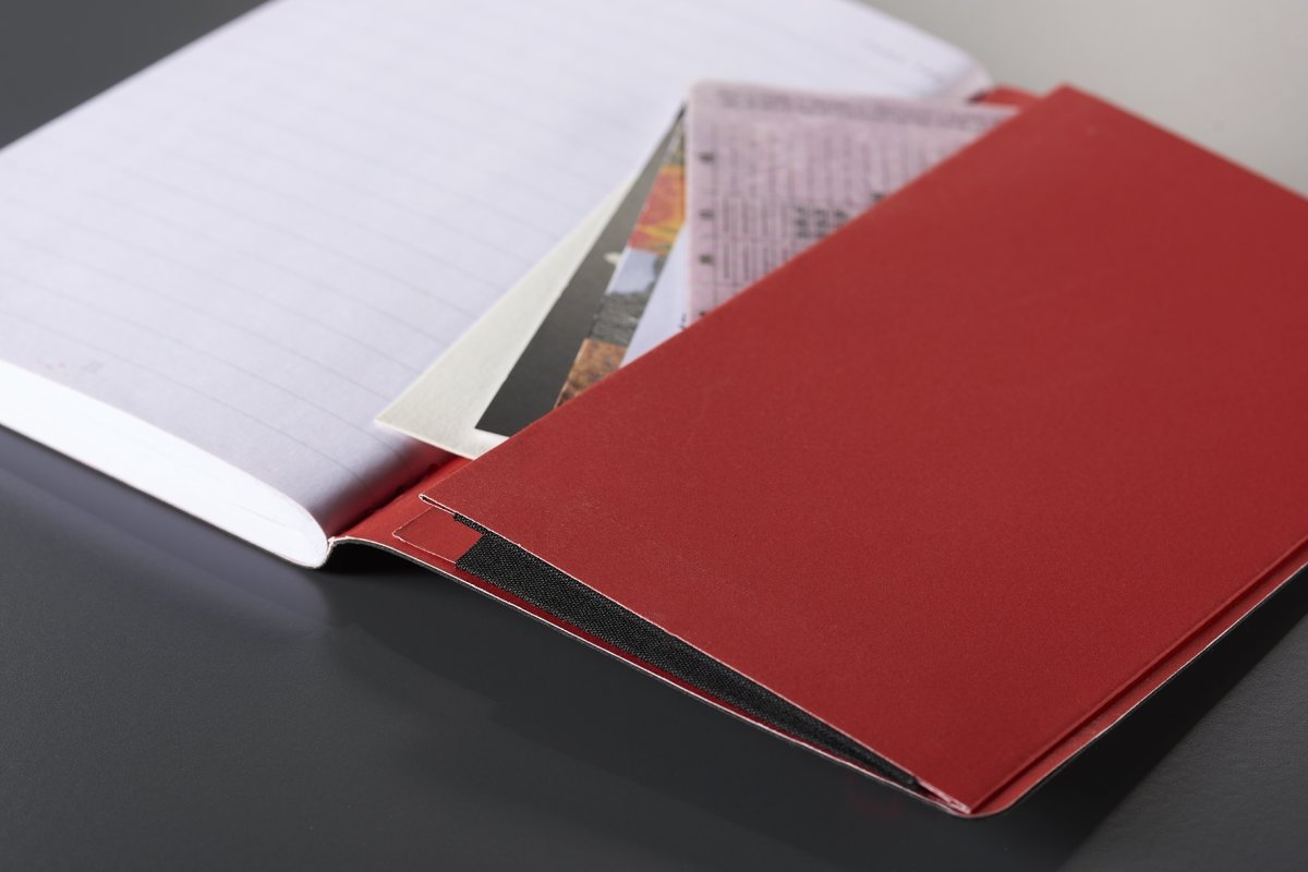 Oxford Black n'Red Soft Notesbog A5, linjeret