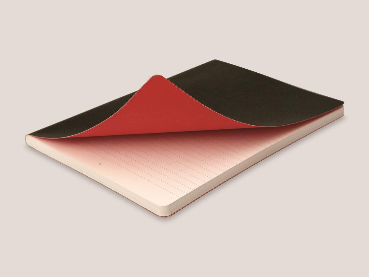 Oxford Black n'Red Soft Notesbog A6, linjeret