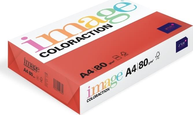 Image Coloraction A4, 80g, 500ark, rød
