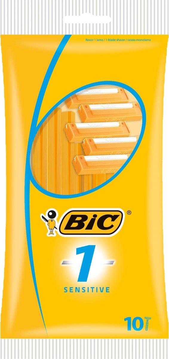 Bic 1 Sensitive Barbarskraber, 10 stk.