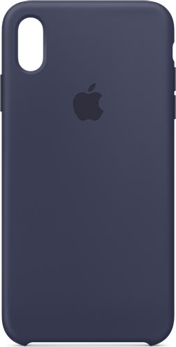 Apple silikone cover til iPhone Xs Max, midnatsblå