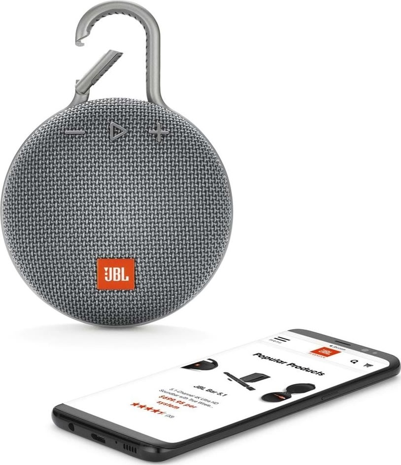 JBL Clip 3 Bluetooth højtaler, grå