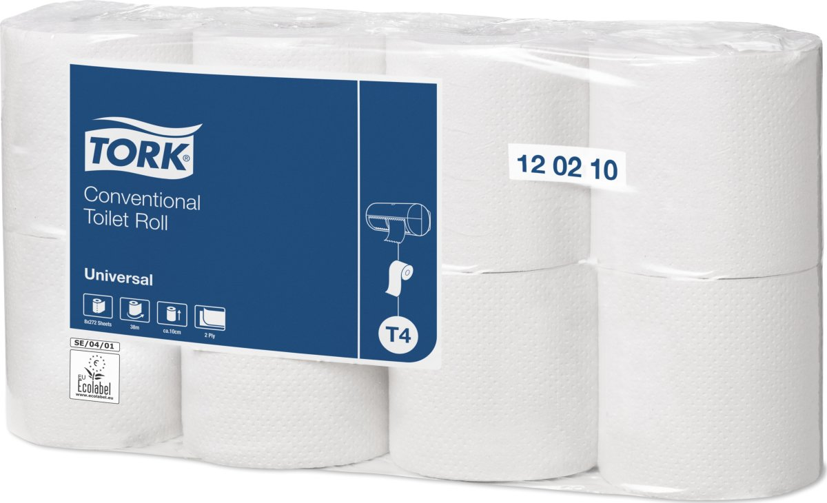 Tork T4 Universal toiletpapir, 2-lags, 64 ruller