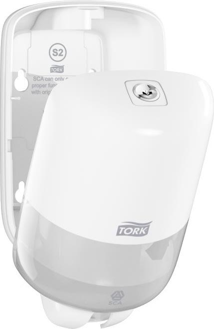 Tork S2 Mini Dispenser Sæbe, hvid