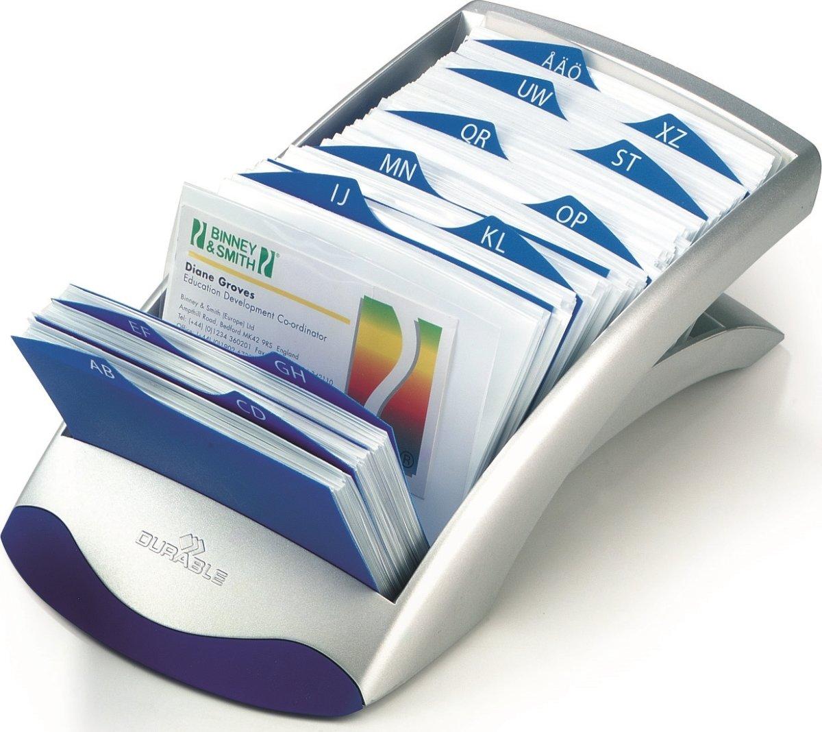 Durable Visifix Desk Vegas Visitkortkartotek, sølv