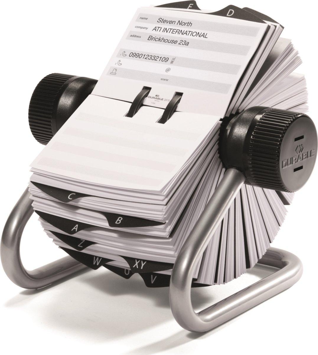 Durable Telindex Adressekartotek, sølv