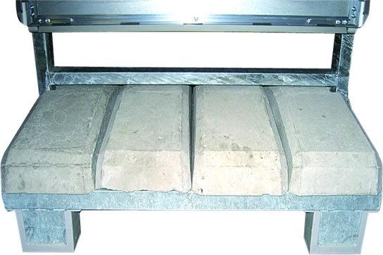 """Gadeskilt """"Outdoor Sign Concrete"""", 100x140cm, Sølv"""