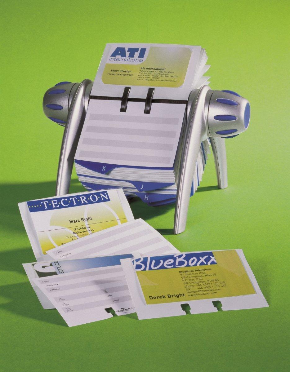 Durable Visifix Flip/Desk Visitkortlommer, 40 stk.