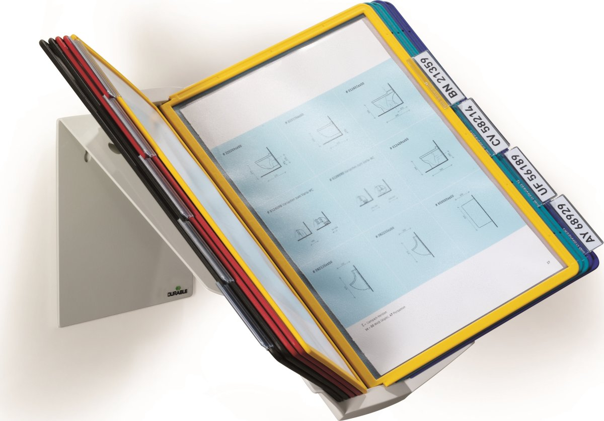 Durable Vario Pro 10 Væg Infocenter, ass. farver