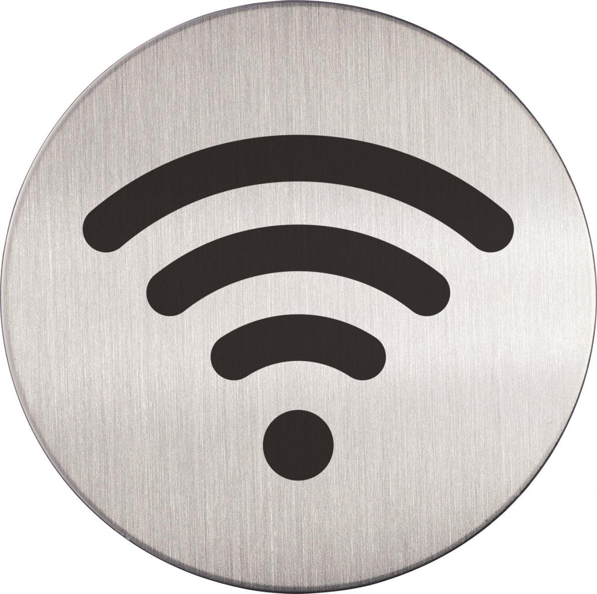 Durable Skilt Rundt WiFi