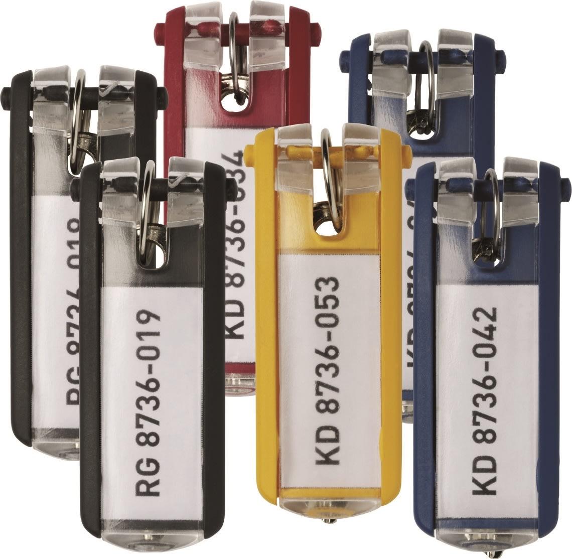 Durable Key Clip Nøglering/brik, 6 stk., ass.