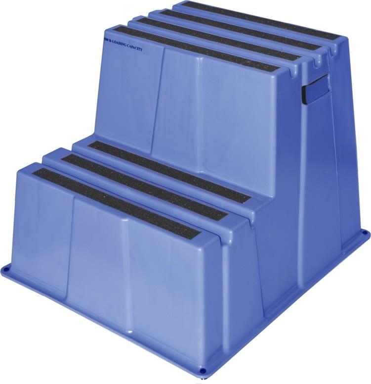 Sikkerhedstrappe, 2 trin, blå