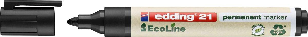 Edding 21 Ecoline Permanent Marker, 4 stk.