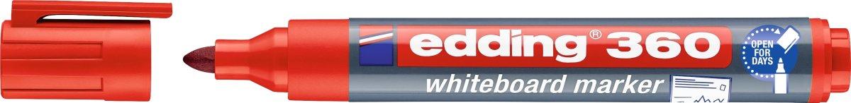 Edding 360 whiteboard marker, rød